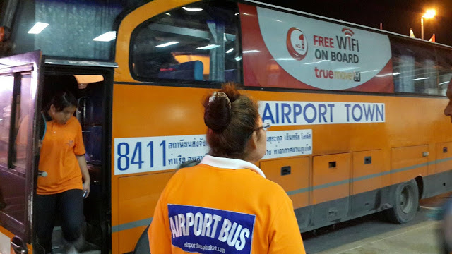 The Airport Bus goes into Phuket city